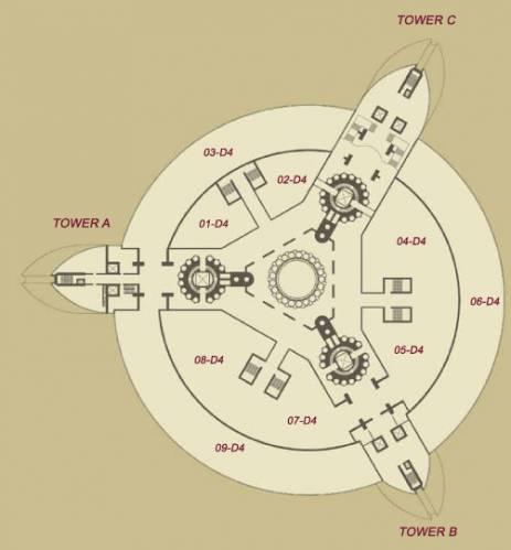 Palais Lumiere by Pierre Cardin plan 361