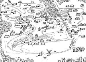 Українське село, схема