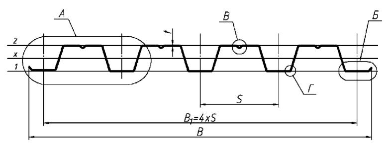 профільований лист типу Н