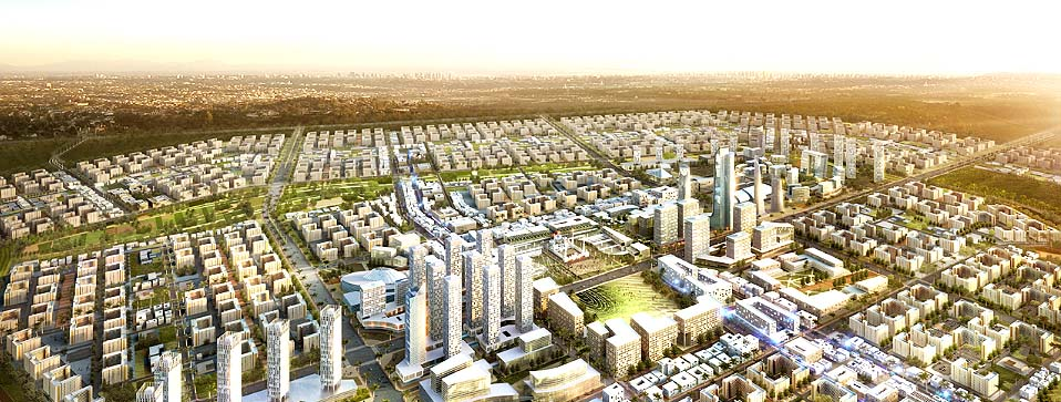 строится город-спутник Бишмаях