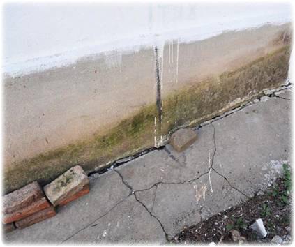 просадка стенового ограждения