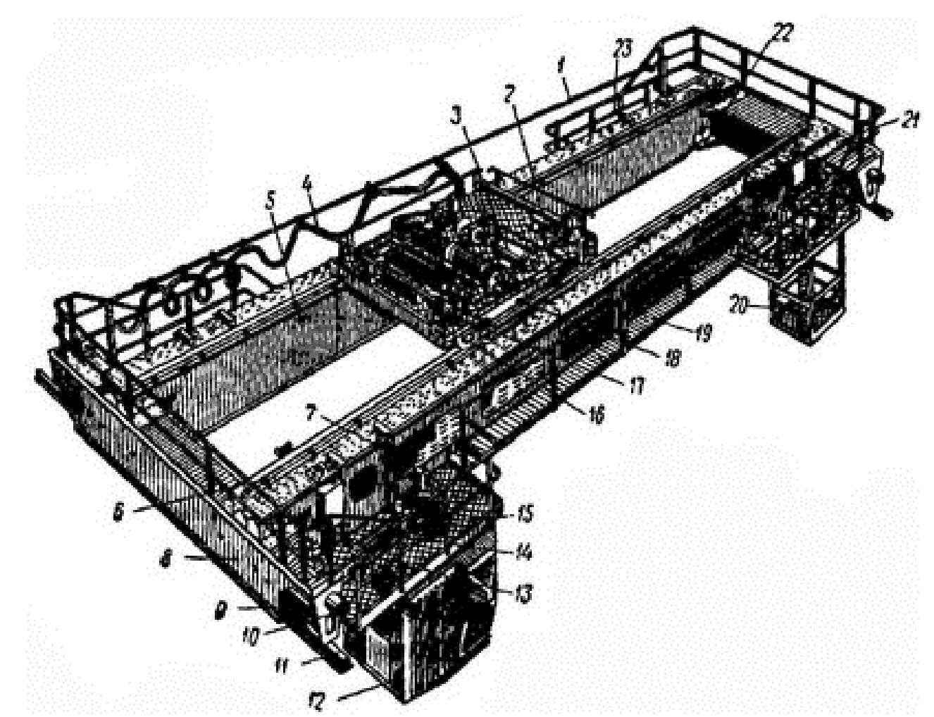Мостовой двухбалочный электрический кран