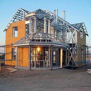 дом из металического каркаса